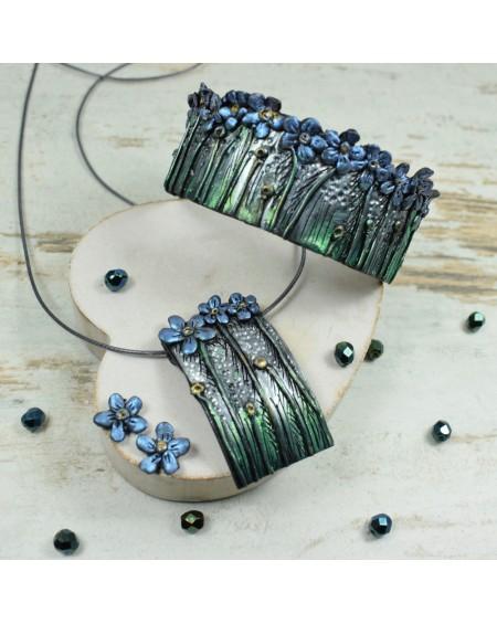 Niezapominajki - duży komplet biżuterii