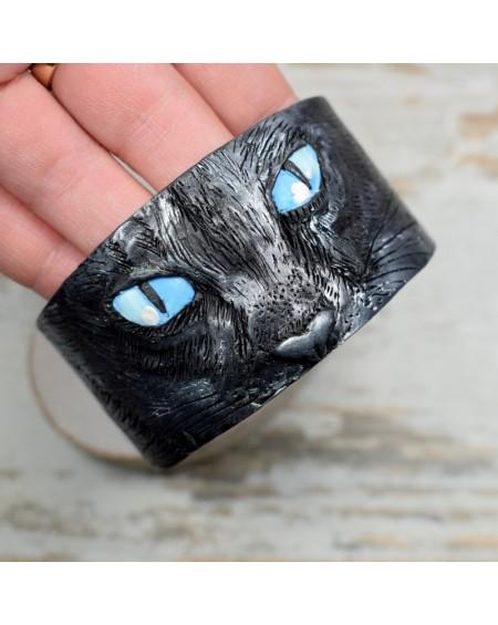 Czarny kot - oryginalna bransoletka