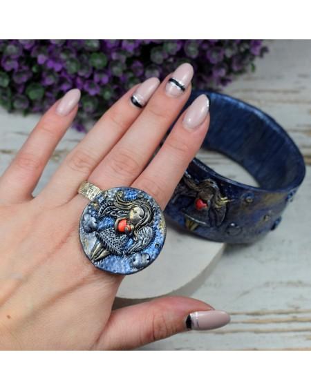 pierścionek Anioł z sercem