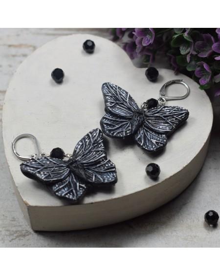 Kolczyki Czarne Motyle