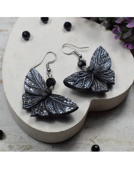 Kolczyki motyle - czarne