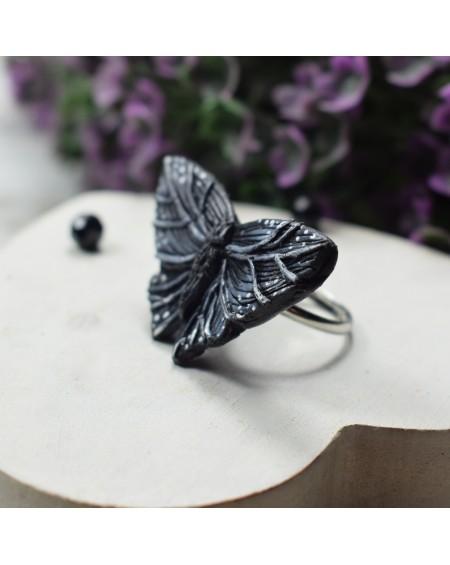 Pierścionek Motyl - regulowany