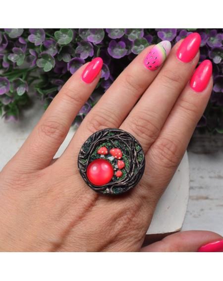 Regulowany pierścionek Muchomory