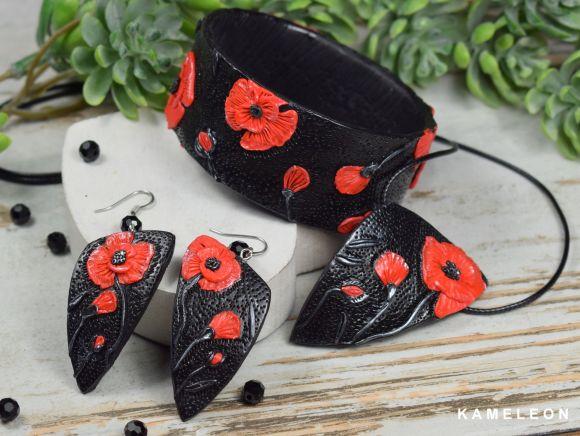 biżuteria czerwone maki - kolekcja biżuteria maki