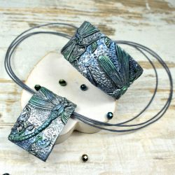 biżuteria z ważką zielona